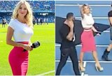 """Italijos sporto žurnalistė sureagavo į jai skirtą nepadorią """"Napoli"""" fanų skanduotę"""