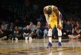 """""""Lakers"""" sezonas arti pabaigos: kas L.Jamesą motyvuos likusiose rungtynėse?"""
