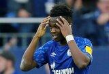"""""""Borussia"""" marškinėlius treniruotės metu vilkėjęs R.Matondo atsiprašė """"Schalke"""" komandos atstovų ir gerbėjų"""