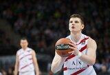 """A.Gudaitis ir M.Kuzminskas kartu surinko 17 taškų, tačiau """"AX Armani"""" po dramatiškos kovos krito prieš J.O'Bryanto vedamą """"Maccabi"""""""