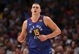 """N.Jokičius prieš """"Knicks"""" atliko trigubą dublį"""