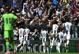 """Italijos čempionais šeštą kartą iš eilės tapo """"Juventus"""" futbolininkai"""