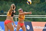Europos jaunimo paplūdimio tinklinio čempionate – permainingas lietuvių startas
