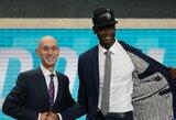 """J.Embiidas necenzūriškai """"pasveikino"""" būsimą NBA naujoką"""
