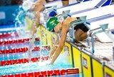 Lietuvos plaukimo čempionate – U.Mažutaitytės ir K.Teterevkovos rekordai
