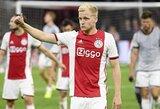 """""""Real"""" taikiniu tapęs D.Van De Beekas pripažino, jog yra didelė tikimybė, kad liks rungtyniauti """"Ajax"""""""
