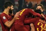 """Du kartus rungtynėse atsilikinėję """"AS Roma"""" futbolininkai palaužė """"Genoa"""""""