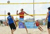 Europos jaunių paplūdimio tinklinio čempionate – lietuvių nesėkmės