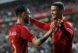 B.Fernandesas atskleidė, ką jam pasakė C.Ronaldo pirmojo susitikimo metu Portugalijos rinktinėje