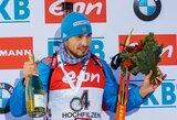 Rusijos vyrų biatlono rinktinė triumfavo pasaulio taurėje, lietuviai šaudė pro šalį