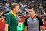 FIBA griežtai nubaudė Lietuvos ir Prancūzijos rungtynių teisėjus