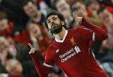 """Mesijas iš Egipto: pirmajame Čempionų lygos pusfinalyje M.Salah dublis ir du rezultatyvūs perdavimai paskandino """"Romą"""""""