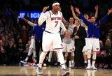 """M.Kuzminskas ir """"Knicks"""" komanda 2017 pasitiko niūriomis nuotaikomis"""