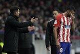 """Pralaimėjimą patyrę """"Atletico"""" rizikuoja prarasti antrą vietą Ispanijoje"""