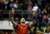 N.Djokovičius Daviso taurėje tik po epinės penkių valandų dvikovos nugalėjo Kazachstano rinktinės lyderį (+ kiti rezultatai)