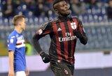 """""""Milan"""" triumfavo Genujoje ir žais Italijos taurės ketvirtfinalyje"""