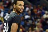 """Monstriškas S.Curry pasirodymas garantavo NBA čempionams pergalę prieš """"Pelicans"""""""