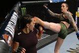 """""""UFC 232"""" turnyre kojos pirštu į akį smūgio sulaukusi C.Zingano susidūrė su rimtomis problemomis"""