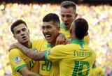 """Peru futbolininkus sutriuškinusi Brazilija tapo """"Copa America"""" turnyro A grupės nugalėtoja"""