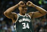 """NBA legenda: """"Vieną dieną G.Antetokounmpo atves """"Bucks"""" į čempionų titulą"""""""