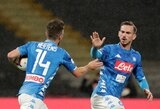 """Italija: """"Napoli"""" pergalę lėmė 98-ą minutę po VAR peržiūros skirtas 11 metrų baudinys"""