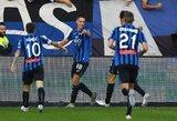 """Italija: """"Atalanta"""" pelnė septynis įvarčius, """"Napoli"""" prarado taškus"""