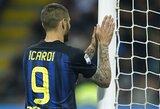 """Italijos """"Serie A"""": Milano """"derbyje"""" - neįskaitytas M.Icardi įvartis ir lygiosios"""