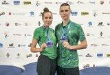 K.Tvaronavičiūtę ir E.Abromavičių Dubline sustabdė būsimi Europos čempionai