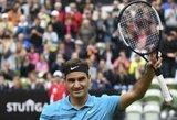 Po beveik trijų mėnesių pertraukos sugrįžęs R.Federeris Štutgarte pateko į ketvirtfinalį