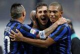 """Italijoje – dramatiška """"Inter"""" pergalė, """"Milan"""" ir """"Napoli"""" pralaimėjo"""