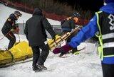 Pamatykite: šiurpiai kritęs olimpinis čempionas rizikuoja praleisti Pjongčango žaidynes