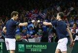 A.Murray'us su broliu priartino Didžiosios Britanijos rinktinę prie Daviso taurės čempionės titulo
