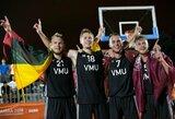 VDU krepšininkai tapo Europos universitetų žaidynių 3x3 čempionais