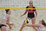 U.Andriukaitytė ir S.Vaičiukynaitė pateko į Europos jaunių paplūdimio tinklinio čempionato aštuntfinalį