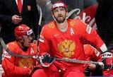 Penkis įvarčius varžovams atseikėję rusai atsipalaidavo tik rungtynių pabaigoje, fanai išskleidė Sovietų Sąjungos vėliavą