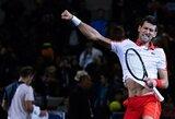 Šanchajuje triumfavęs N.Djokovičius aplenkė R.Federerį ir gerokai priartėjo prie R.Nadalio