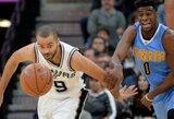 """T.Parkeris sužaidė geriausią sezono mačą, """"Spurs"""" namuose – vis dar nenugalėti"""
