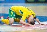 Lietuviai pralaimėjo vengrams, bet tęs kovą UEFA Europos futsalo čempionato atrankoje