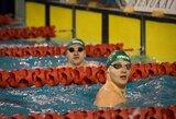 Lietuvos plaukimo žiemos pirmenybių starte – trigubas G.Titenio ir A.Šeleikaitės triumfas