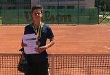 Jaunieji tenisininkai kovojo dėl Lietuvos čempionų titulų