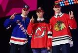 NHL naujokų birža: pasaulio čempionate žibėjęs K.Kakko liko už J.Hugheso nugaros