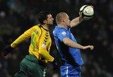 Lietuvos futbolo rinktinė iškovojo tašką Slovakijoje