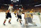 """""""Predators"""" žaidėjo įvartis pratęsime į savus vartus padovanojo """"Ducks"""" ekipai pergalę Vakarų konferencijos finale"""