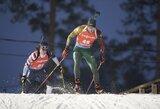 E.Jacquelinas trečią kartą tapo pasaulio biatlono čempionu, K.Dombrovskiui trasoje trūko greičio