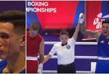 P.Zujevas pasaulio bokso čempionate praliejo varžovo kraują, bet teisėjai pergalę skyrė filipiniečiui