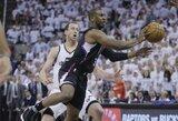 """""""Clippers"""" susigrąžino namų arenos pranašumą, bet traumą patyrė B.Griffinas"""