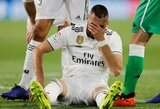 Lūžęs pirštas – ne kliūtis: prieš rankos operaciją K.Benzema nori dar sužaisti rungtynes