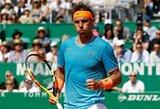A.Zverevas Monake eliminavo teniso vunderkindą, R.Nadalis dominavo prieš tautietį, netikėtai krito šeštoji pasaulio raketė