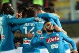 """Italijos """"Serie A"""":  eilinę pergalę iškovojusi """"Napoli"""" neužleidžia lyderio pozicijų"""