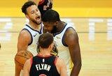 """Tik du metimus pataikęs S.Curry nesutrukdė """"Warriors"""" laimėti"""